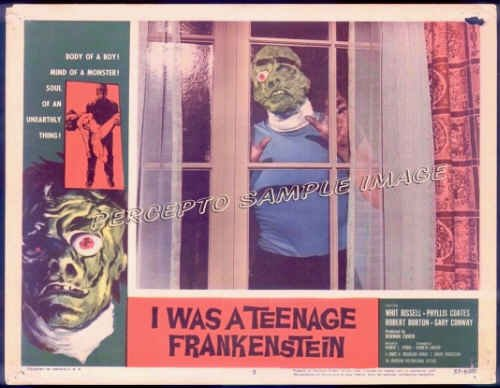 I WAS A TEENAGE FRANKENSTEIN ~  '57 Set of 8 RARE ORIG LOBBY CARDS ~ GARY CONWAY / WHIT BISSEL
