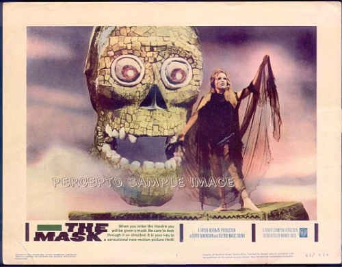 The MASK  '61 3-D Gimmick Horror Movie! RARE COMPLETE SET of 8 Lobby Cards!