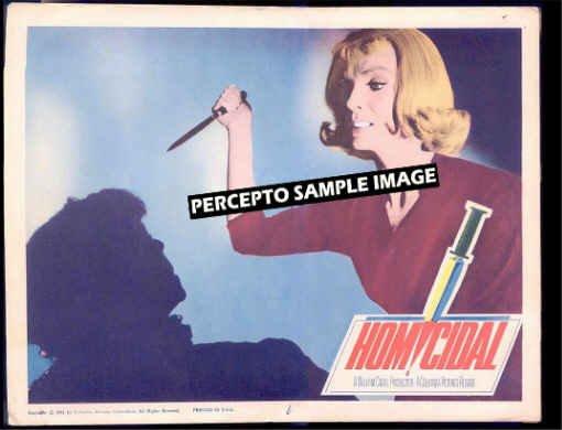 HOMICIDAL ~ '61 HORROR CLASSIC Movie Lobby Card ~  JEAN ARLESS / WILLIAM CASTLE