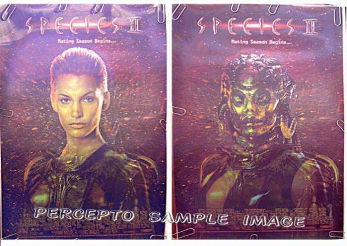 SPECIES II  Rare! Lenticular 3-D Image 1-Sheet Movie Poster!  NATASHA HENSTRIDGE