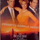 BONFIRE OF THE VANITIES ~ '90 1-Sheet Movie Poster ~ BRUCE WILLIS / TOM HANKS / MELANIE GRIFFITH