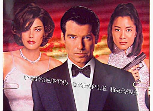TOMORROW NEVER DIES  Rare! 6ft LT ED Movie Poster!  PIERCE BROSNAN / JAMES BOND
