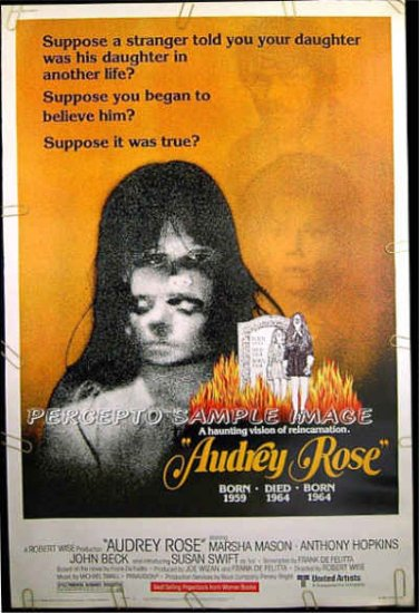 AUDREY ROSE ~  '77 Rare-Size 40x60 Movie Poster ~  ANTHONY HOPKINS / MARSHA MASON / JOHN BECK