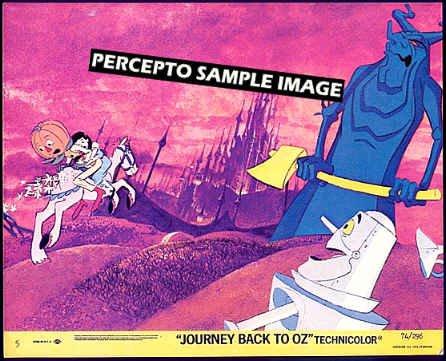 JOURNEY BACK TO OZ ~ Orig '74 Animation Movie Photo ~  LIVING TREE / DOROTHY / TIN MAN