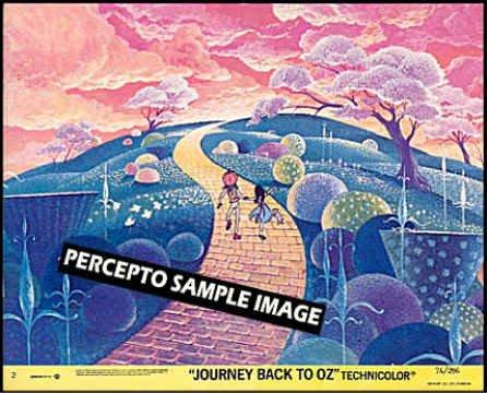 JOURNEY BACK TO OZ  ~ Dorothy & Yellow Brick Road ~- Original '74 Animation Movie Photo!