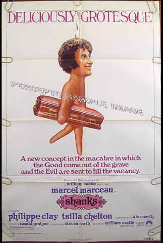 SHANKS ~ '74 1-Sheet HORROR Movie Poster ~ MARCEL MARCEAU / WILLIAM CASTLE / PHILIPPE CLAY