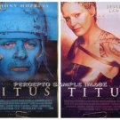 TITUS - '99 2-SIDE / 2-IMAGE Movie Poster!  - Anthony HOPKINS / Jessica LANGE