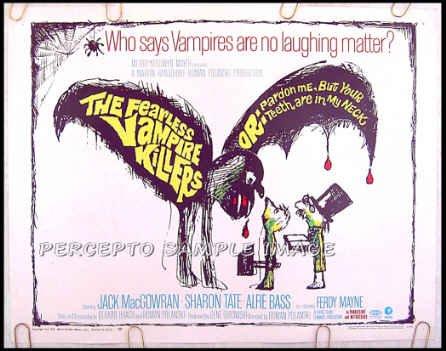 FEARLESS VAMPIRE KILLERS - '67 US Half-Sheet Poster! - Horror Classic / ROMAN POLANSKI