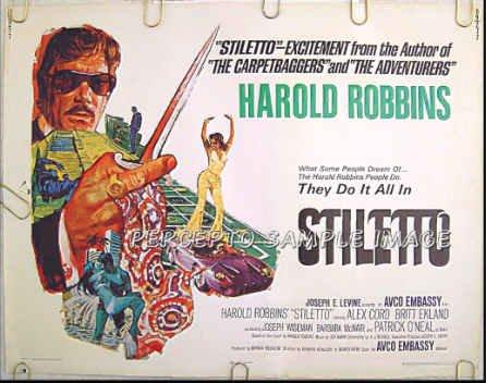STILETTO ~ Rare-Size '69 Gangland Action Half-Sheet Movie Poster ~ ALEX CORD / BARBARA McNAIR