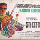STILETTO ~ Rare-Size '69 Gangland Action Half-Sheet Movie Poster ~ ALEX CORD / BARBARA McNAIR