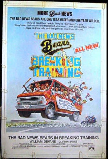 BAD NEWS BEARS IN BREAKING TRAINING - '77 Ex-Cond 40x60 Poster! - WILLIAM DEVANE