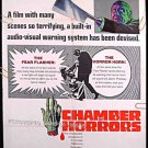 CHAMBER OF HORRORS ~ '66 1-Sheet GIMMICK Movie Poster ~ PATRICK O'NEAL / CESARE DANOVA / SUZY PARKER