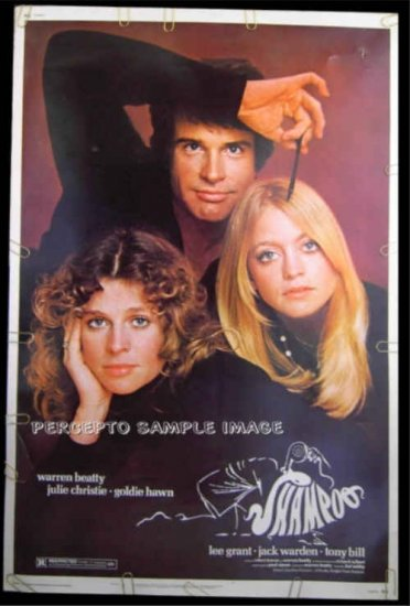SHAMPOO ~ '75 Rare-Size 40x60 Movie Poster ~ Warren BEATTY / Julie CHRISTIE / Goldie HAWN