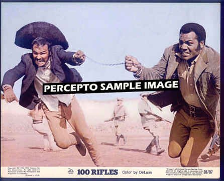 100 RIFLES - Orig '69 Movie Photo! - Burt REYNOLDS / Jim BROWN