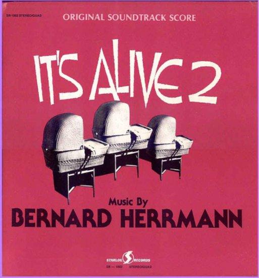 IT'S ALIVE 2 ~ Rare '71 QUAD STEREO Movie Soundtrack Vinyl  LP ~ BERNARD HERRMANN / LAURIE JOHNSON