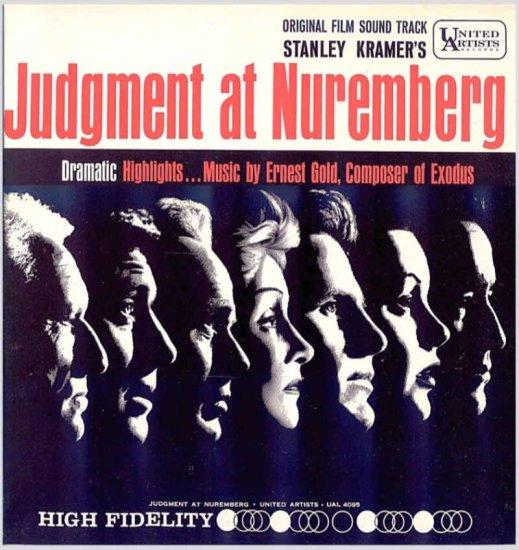 JUDGMENT AT NUREMBERG ~ '61 STANLEY KRAMER / SPENCER TRACY Movie Soundtrack Vinyl LP ~ ERNEST GOLD