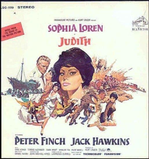 JUDITH  ~ NEW Out-Of-Print '66 SOPHIA LOREN Movie Soundtrack Vinyl LP ~ SOL KAPLAN