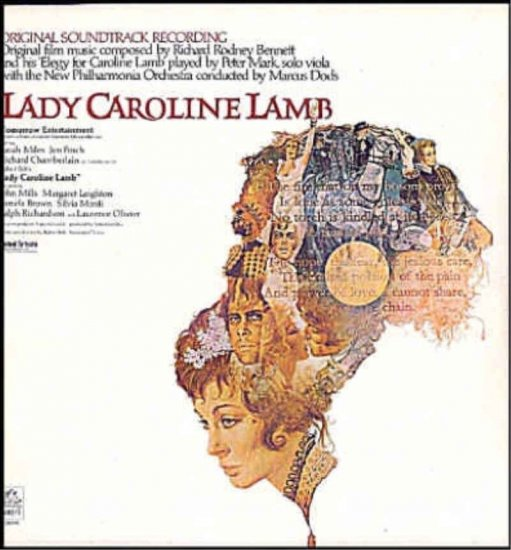 LADY CAROLINE LAMB ~ NEW '73 SARAH MILES Movie Soundtrack Vinyl LP ~ RICHARD RODNEY  BENNETT