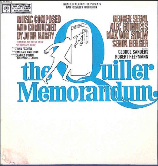The QUILLER MEMORANDUM ~ RARE '66 SPY Movie Soundtrack Vinyl LP ~ MATT MONRO / JOHN BARRY