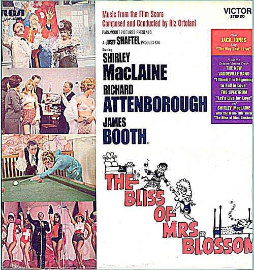 BLISS OF MRS BLOSSOM ~ NEW Movie Vinyl LP ~ Riz ORTOLANI / NEW VAUDEVILLE BAND / SHIRLEY MacLAINE