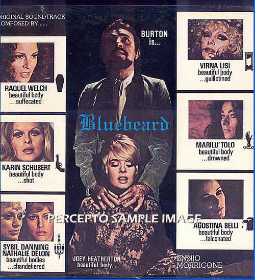 BLUEBEARD ~ RARE! Lt-Ed '72 RAQUEL WELCH Movie Soundtrack Vinyl LP ~ ENNIO MORRICONE