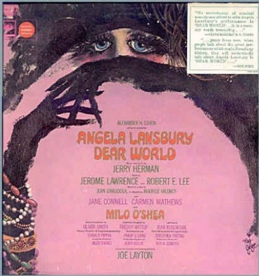 DEAR WORLD ~ NEW '69 Broadway Cast Vinyl LP ~ JERRY HERMAN / ANGELA LANSBURY / JANE CONNELL