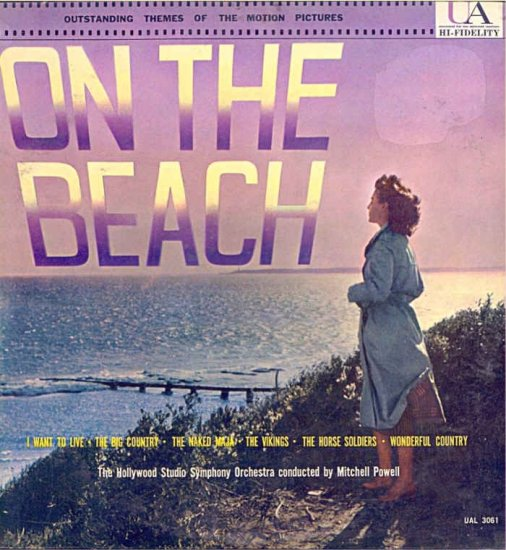 ON THE BEACH ~ NEW / MINT Out-Of-Print 50s MOVIE SUITE Vinyl LP / MITCHELL POWELL
