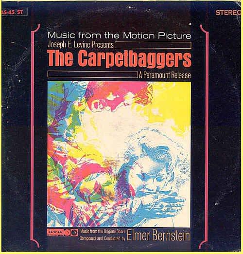 The CARPETBAGGERS ~ Original '64 Movie Soundtrack Vinyl LP ~ ELMER BERNSTEIN