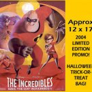 The INCREDIBLES ~ '04 HALLOWEEN TRICK-OR-TREAT MOVIE PROMO BAG ~ DISNEY / PIXAR Animation