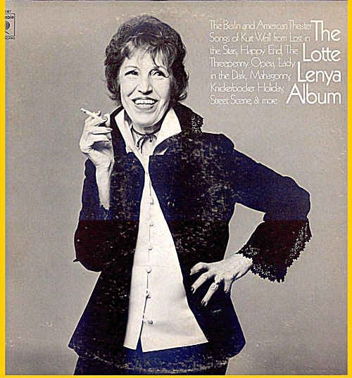 LOTTE LENYA Album ~ Out-Of-Print DOUBLE LP Set Vinyl ~ BERLIN & US /  KURT WEILL / BERTOLT BRECHT