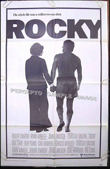ROCKY - Ex-Cond Orig '77 1-Sheet Movie Poster - SYLVESTER STALLONE