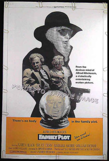 FAMILY PLOT - Rare-Size 40x60 Movie Poster - KAREN BLACK / ALFRED HITCHCOCK