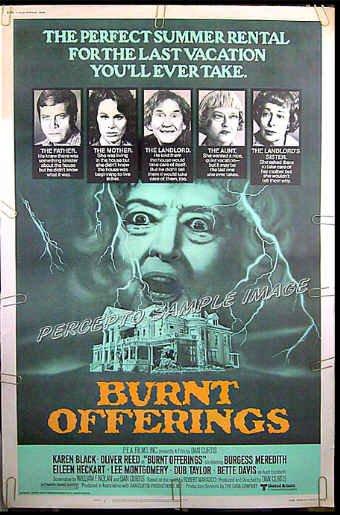 BURNT OFFERINGS - Rare-Size '76 40x60 Horror Movie Poster - BETTE DAVIS / KAREN BLACK