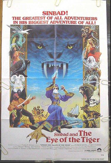 SINBAD AND THE EYE OF THE TIGER ~ '77 1-Sheet Movie Poster ~ PATRICK WAYNE / RAY HARRYHAUSEN