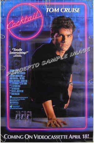 COCKTAIL ~ Ex-Cond Rolled '88 1-Sheet Movie Poster ~ TOM CRUISE / ELIZABETH SHUE / BARTENDER
