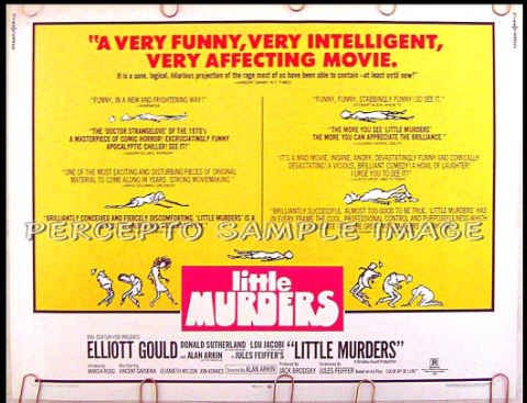 LITTLE MURDERS ~ '70 Half-Sheet Movie Poster ~ JULES FEIFFER Artwork / ALAN ARKIN / ELLIOTT GOULD