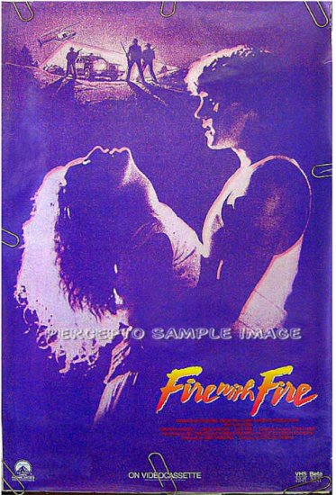 FIRE WITH FIRE - Sexy Ex-Cond '86 1-Sheet Movie Poster - CRAIG SHEFFER