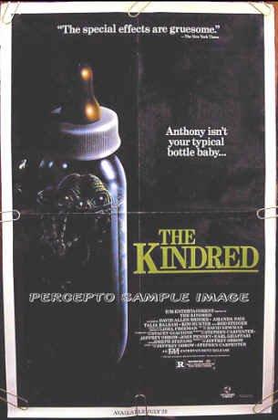 KINDRED ~ Orig '87 HORROR 1-Sheet Movie Poster ~ AMANDA PAYS / DAVID ALLEN BROOKS / KIM HUNTER