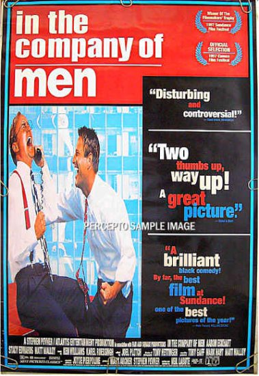 IN THE COMPANY OF MEN ~ '97 1-Sheet Movie Poster ~ AARON ECKHART / MATT MALLOY / NEIL La BUTE