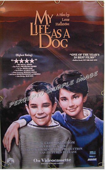 MY LIFE AS A DOG - Ex-Cond '88 US 1-Sheet Movie Poster - LASSE HALLSTROM