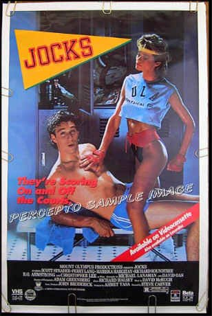 JOCKS / PHYSICAL LESSON ~ Sexy '87 1-Sheet Movie Poster ~ SCOTT STRADLER / MARISKA HARGITAY