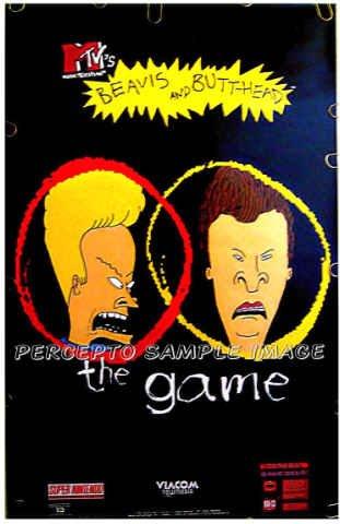 BEAVIS & BUTTHEAD - 90s NINTENDO / TV Game Promo Poster