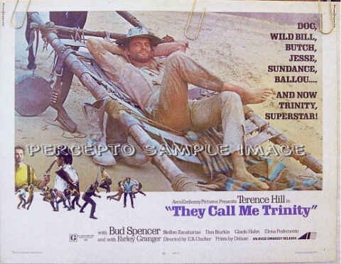 THEY CALL ME TRINITY - Ex-Cond '71 Half-Sheet Poster - TERENCE HILL