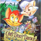 CATS DON'T DANCE - 1997 1-Sheet Movie Poster - WARNER BROS ANIMATION ART