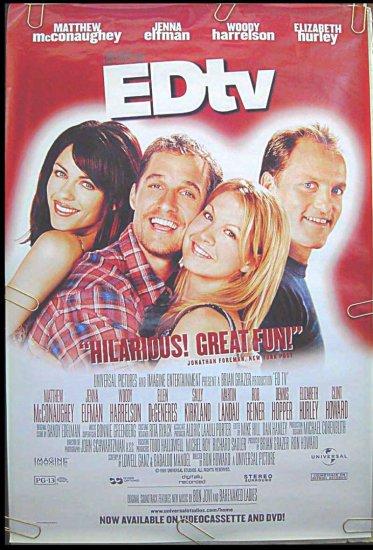 ED TV - '99 1-Sheet Movie Poster - MATTHEW McCONAUGHEY / JENNA ELFMAN / WOODY HARRELSON / LIZ HURLEY