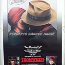IRONWEED - '87 1-Sheet Movie Poster - JACK NICHOLSON / MERYL STREEP / FRED GWYNNE / CARROLL BAKER
