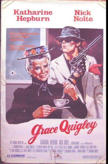 GRACE QUIGLEY  - Ex-Cond '85 1-Sheet Movie Poster - KATHARINE HEPBURN / NICK NOLTE