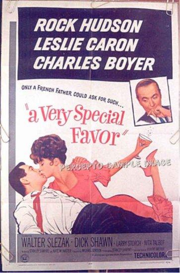 A VERY SPECIAL FAVOR ~ '65 1-Sheet Movie Poster ~ ROCK HUDSON / LESLIE CARON / CHARLES BOYER