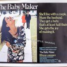 The BABY MAKER ~ Ex-Cond '70 Half Sheet Movie Poster ~ BARBARA HERSHEY / SAM GROOM