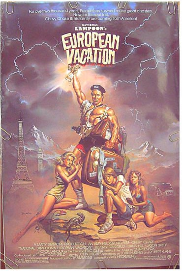 National Lampoon's EUROPEAN VACATION ~ '85 1 Sheet Movie Poster ~ BORIS VALLEJO ART / CHEVY CHASE